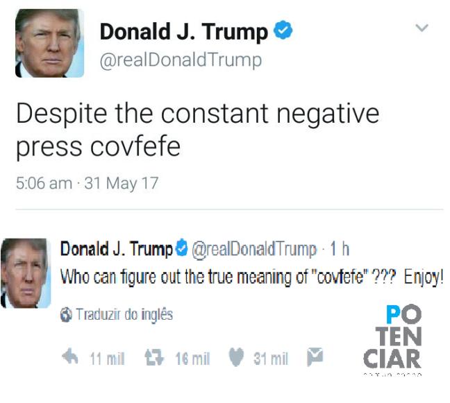 Falha de Donald Trump no Twitter